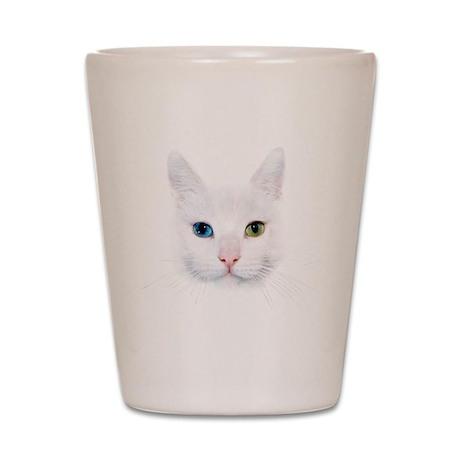 White Cat Shot Glass
