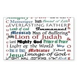 Names of Jesus Oval Decal