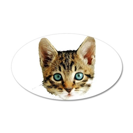 Kitty Cat Face 20x12 Oval Wall Decal