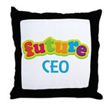 Future CEO Throw Pillow