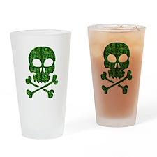 Skull Made of Shamrocks Drinking Glass