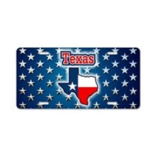 Texas Aluminum License Plate