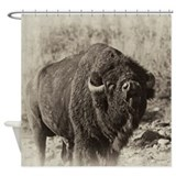 Funny Bison Shower Curtain