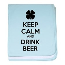 Keep calm and drink beer baby blanket