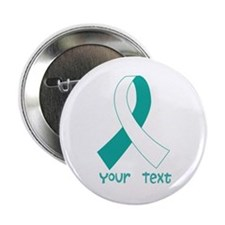 "Personalized Cervical Cancer Ribbon 2.25"" Button ("