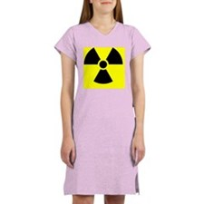 Radiation warning sign - Women's Nightshirt