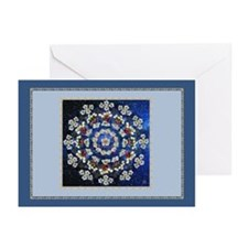 Hawthorn Rose Mandala Greeting Cards (Pk of 20)