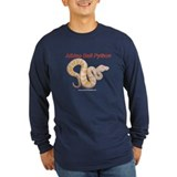 Albino ball python black Long Sleeve T-Shirt