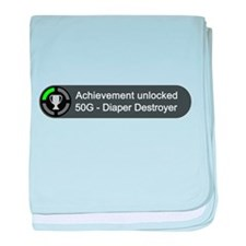 Diaper Destroyer (Achievement) baby blanket