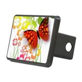 Butterfly With Shamrocks Hitch Cover