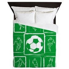 Cool Soccer player design Queen Duvet