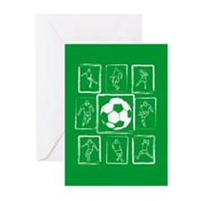 Fun Soccer players design Greeting Cards (Pk of 10