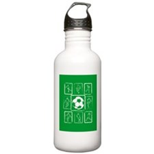 Fun Soccer players design Water Bottle
