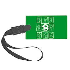 Soccer design Luggage Tag