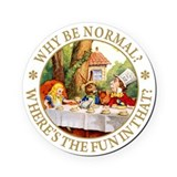 MAD HATTER - WHY BE NORMAL? Cork Coaster