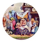 ALICE_SQ_MEETS_THE_DUCHESS.png Round Car Magnet