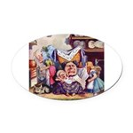 ALICE_SQ_MEETS_THE_DUCHESS.png Oval Car Magnet