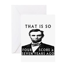 Abe Lincoln Greeting Card