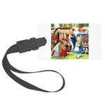 SQ ALICE QUEEN.png Large Luggage Tag