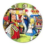 SQ ALICE QUEEN.png Round Car Magnet