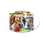 SQ ALICE QUEEN.png Oval Car Magnet