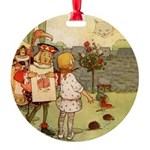 Alice in Wonderland013 SQ.png Round Ornament