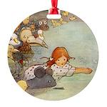 Alice in Wonderland006 SQ.png Round Ornament