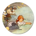 Alice in Wonderland006 SQ.png Round Car Magnet