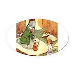 Alice in Wonderland009_SQ.png Oval Car Magnet