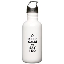 Keep Calm Say I Do Water Bottle
