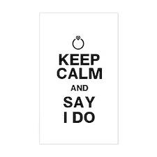 Keep Calm Say I Do Decal