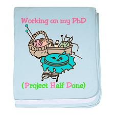 PhD baby blanket
