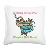 PhD Square Canvas Pillow