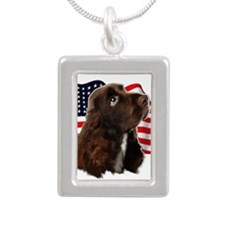 otterhound Silver Portrait Necklace