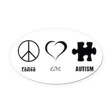 Cute Love autism Oval Car Magnet