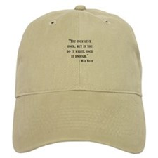 Mae West Quote Baseball Baseball Cap