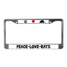 Peace-Love-Rats License Plate Frame