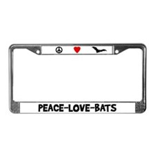 Peace-Love-Bats License Plate Frame