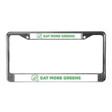 Eat More Greens License Plate Frame