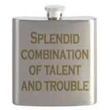 Talent and Trouble Flask