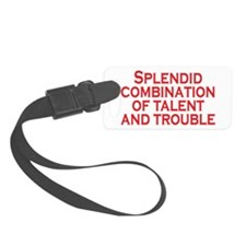 Talent and Trouble Small Luggage Tag