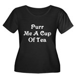 Purr Me A Cup of Tea Women's Plus Size Scoop Neck