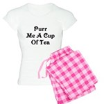 Purr Me A Cup of Tea Women's Light Pajamas