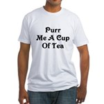 Purr Me A Cup of Tea Fitted T-Shirt