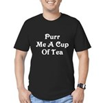 Purr Me A Cup of Tea Men's Fitted T-Shirt (dark)