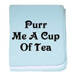 Purr Me A Cup of Tea baby blanket