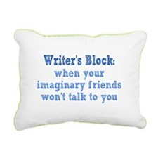 Writer's Block Rectangular Canvas Pillow