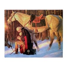 George Washington Throw Blanket