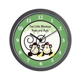 Two Silly Monkeys Clock Wall Clock