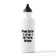 Proud Sister AF Airman Water Bottle